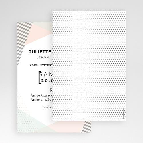 Faire Part Mariage Pochette rectangulaire - Style cubiste 52278 thumb