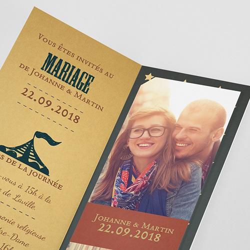 Faire-Part Mariage Personnalisés - Fête foraine 52319 preview