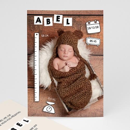 Faire-part naissance garçon ABC bébé