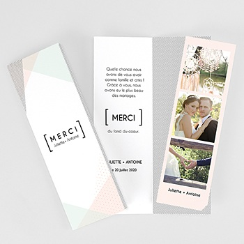 Création carte remerciements mariage style cubiste