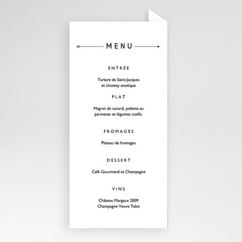Menu de Mariage - Yuccie Chic 52418 preview