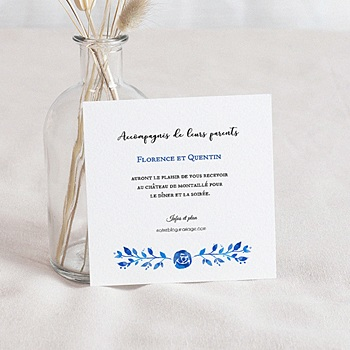 Carte invitation mariage cartons personnaliss carteland carte invitation mariage bleu dt 0 stopboris Images