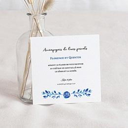 Carte Invitation Mariage - Bleu d'été - 0