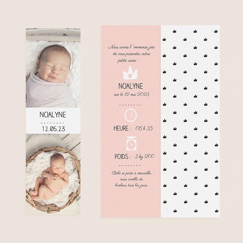 Faire-Part Naissance Fille - Petite Reine 52527 thumb
