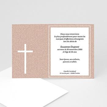 Carte remerciement décès chrétien Carte souvenir granite