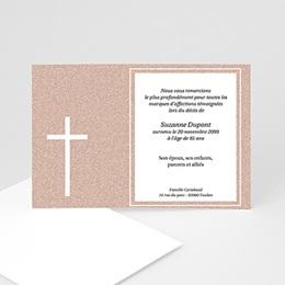 Faire-Part Décès Chrétien Carte souvenir granite