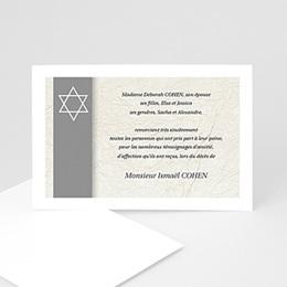 Remerciements Décès Juif Magen David gris