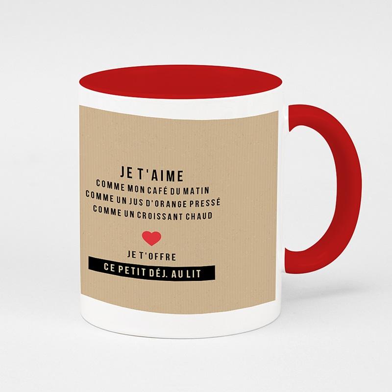 Mug Personnalisé de Couleur My Valentine
