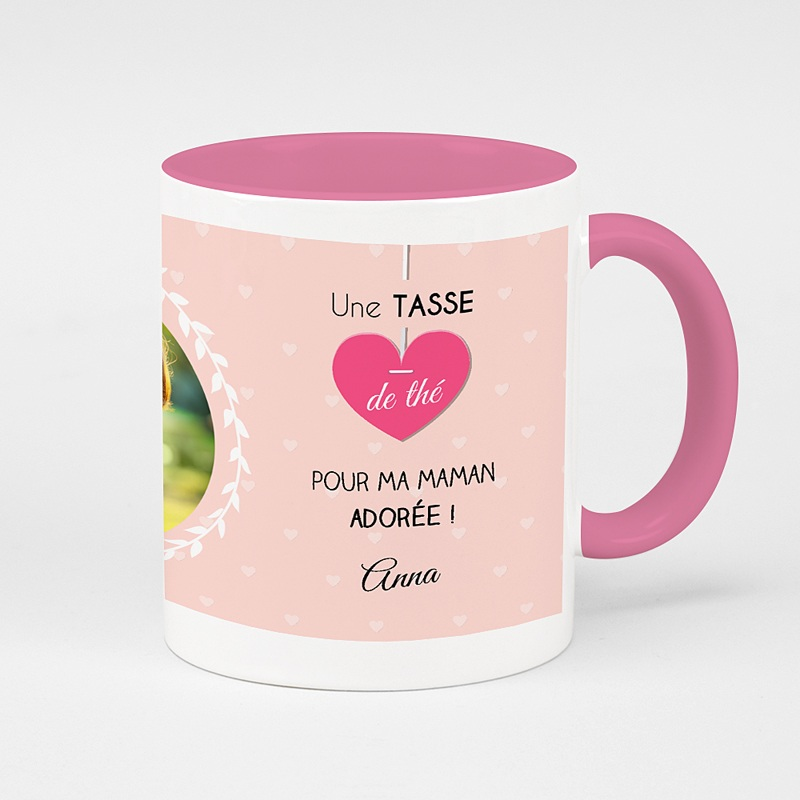 Mug de couleur Tea time rosé