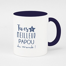 Mug de couleur - Super papi - 0