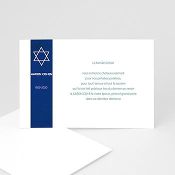 Carte remerciement décès juif