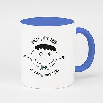 Mug de couleur dessin d'enfant personnalisé