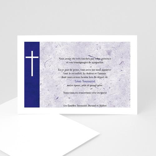 Carte remerciement décès chrétien Condoléant