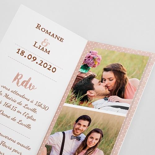 Faire-Part Mariage Personnalisés - Rose Chic & Bois 52683 preview