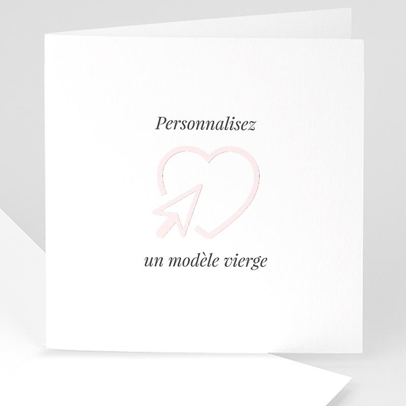 Faire-Part Naissance Vierge carré double 14 cm x 14 cm à personnaliser