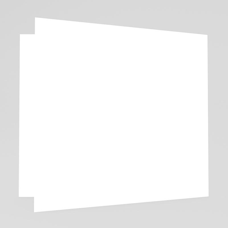 Faire-Part Naissance Vierge carré double 14 cm x 14 cm à personnaliser gratuit