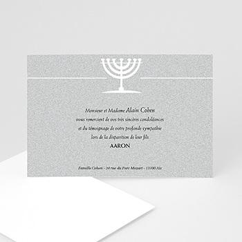 Remerciements Décès Juif - Triste menorah - 3