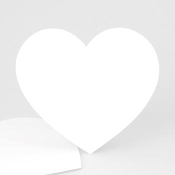 Carte de voeux entreprise Vierge forme coeur