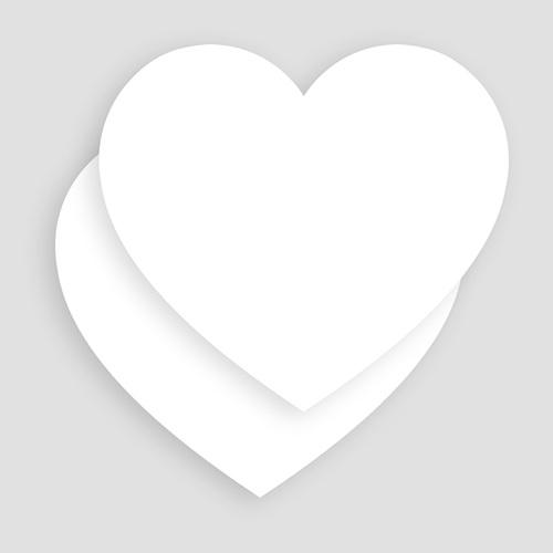 Carte de Voeux Entreprise - Vierge forme coeur 52789 preview