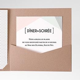 Carte d'invitation Style cubiste