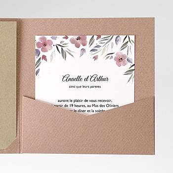 Carte d'invitation fleurs romantiques personnalisé