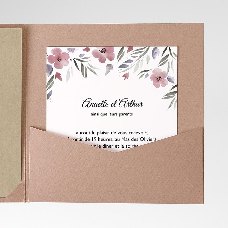 Carte d'invitation Fleurs romantiques