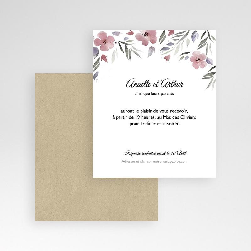 Carte d'invitation Fleurs romantiques gratuit