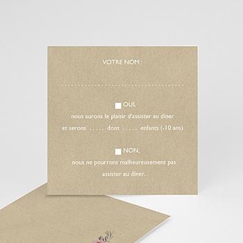 Cartons réponse fleurs romantiques