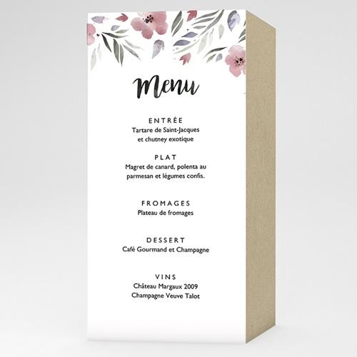 Menu de Mariage - Fleurs romantiques 52905