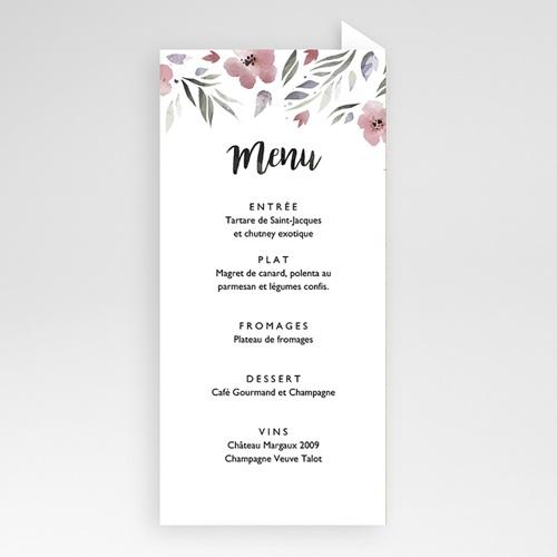 Menu de Mariage - Fleurs romantiques 52906 preview