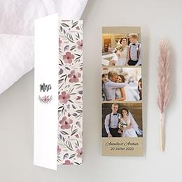 Tous les Remerciements Mariage - Fleurs romantiques - 0