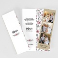 Carte Remerciements Mariage Fleurs romantiques