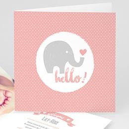 Faire-Part Naissance Fille UNICEF - Elephant Girl - 0