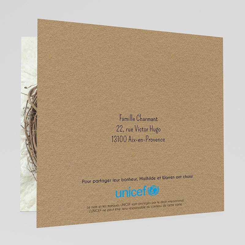 Faire-Part Naissance Garçon UNICEF Hibou, chou, bisou gratuit