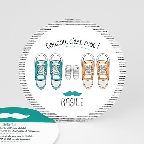 Faire-Part Naissance Garçon UNICEF - Basket Academy 52989