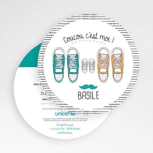 Faire-Part Naissance Garçon UNICEF Basket Academy gratuit