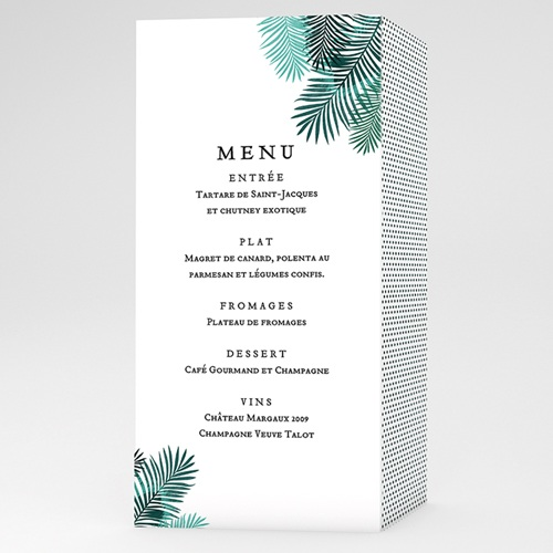 Menu de Mariage - Exotic Chic 53033 thumb