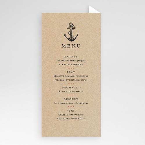 Menu de Mariage - Ancre Marine 53052 preview