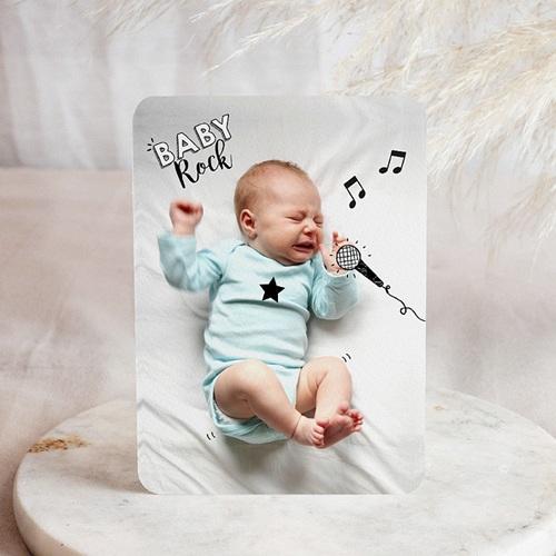 Faire-part naissance original Bébé rocker