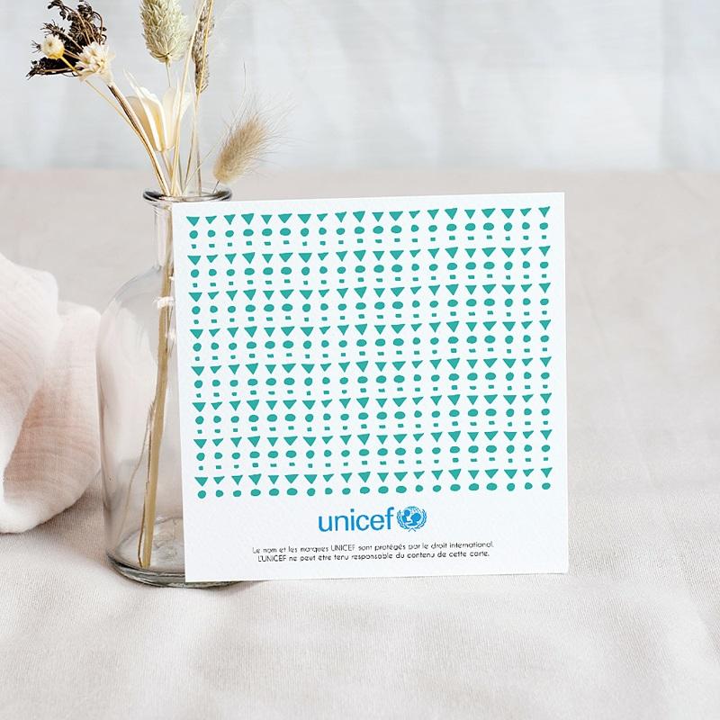 Carte Remerciement Naissance UNICEF Douce nuit étoilée pas cher