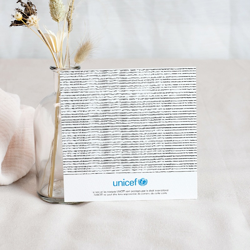 Carte Remerciement Naissance UNICEF Basket Academy pas cher