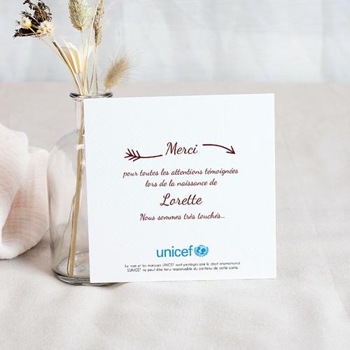 Remerciement Naissance UNICEF - Petite merveille 53143 preview