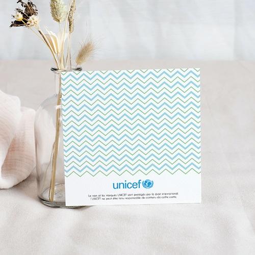 Carte Remerciement Naissance UNICEF Marin Kraft pas cher