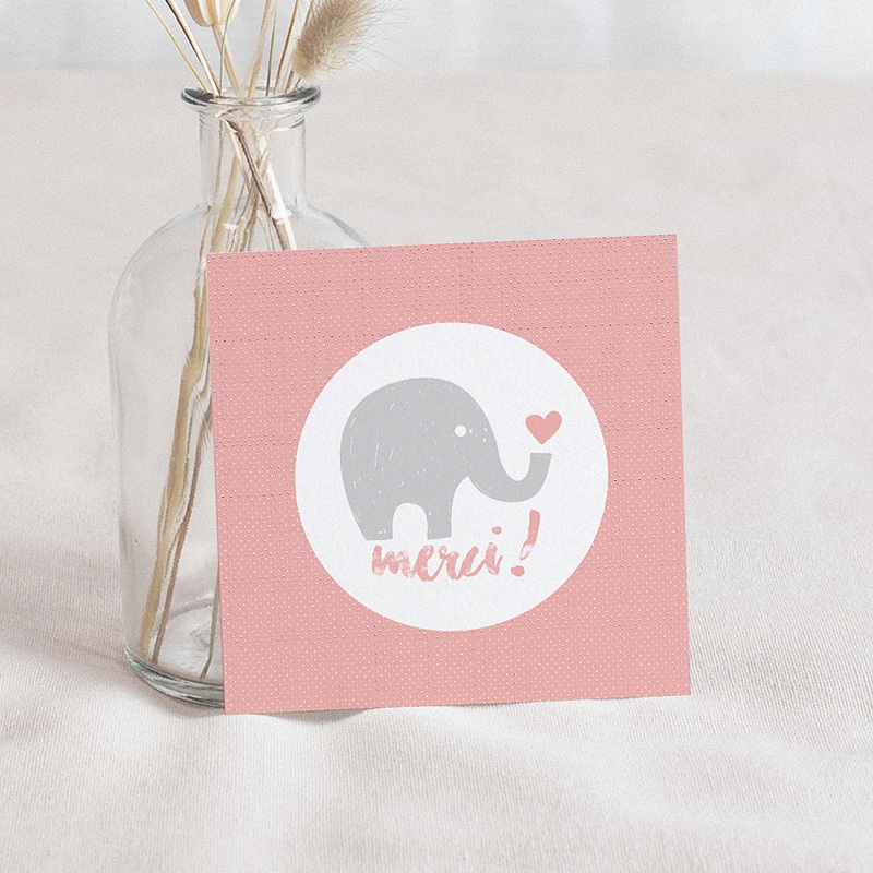Carte Remerciement Naissance UNICEF Elephant Girl