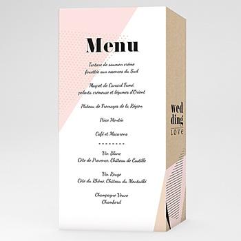 Achat menu mariage géométrique