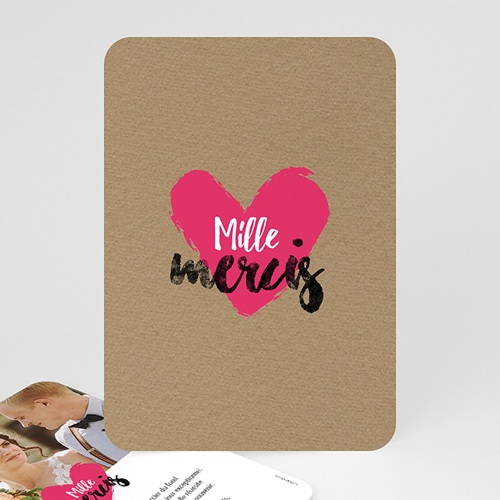 Carte Remerciements Mariage Love story