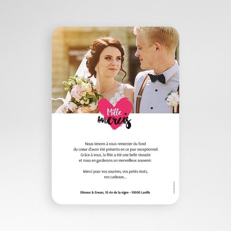 Carte Remerciements Mariage Love story pas cher