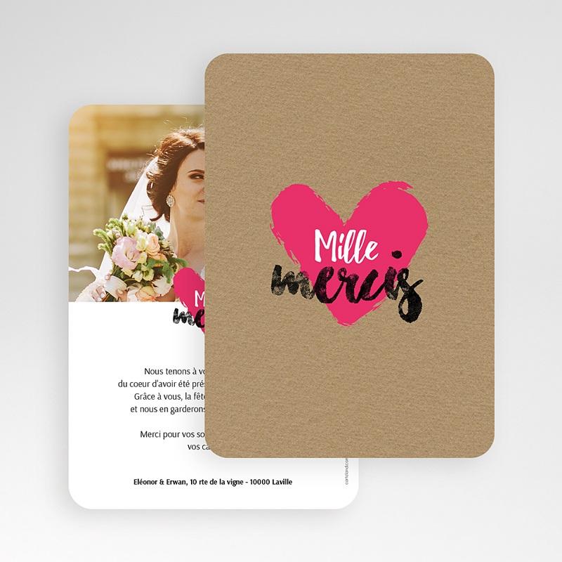 Carte Remerciements Mariage Love story gratuit