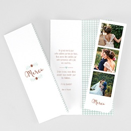 Carte Remerciements Mariage Wedding Love Triangles
