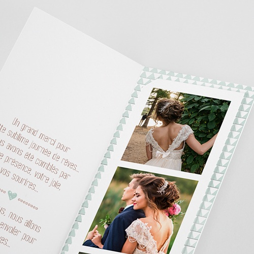 Carte Remerciements Mariage Wedding Love Triangles pas cher